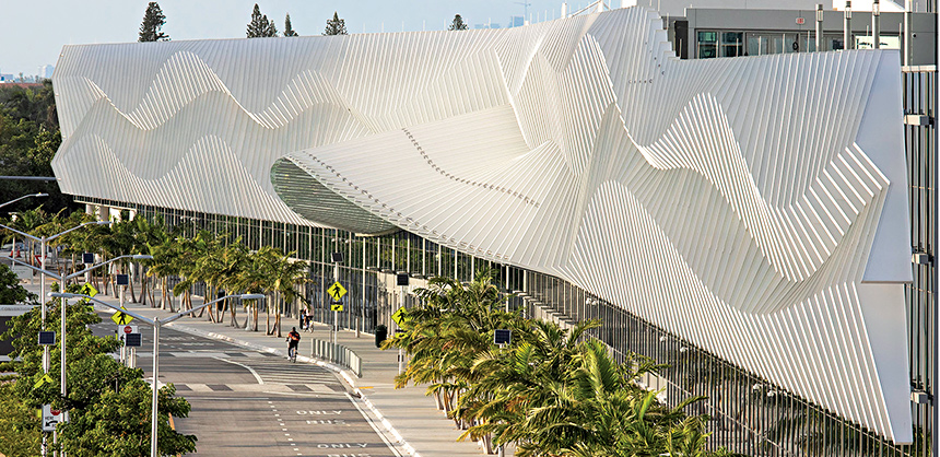 The Miami Beach Convention Center recently completed a major renovation.