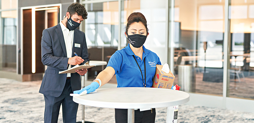The Miami Beach Convention Center has implemented policies to minimize risk and protect the health of attendees.