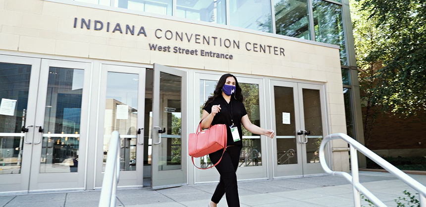 Indianapolis has been working hard to ensure safe meetings, investing more than $7 million in health and safety improvements inside Indiana Convention Center. Photo Courtesy of Chris Gahl