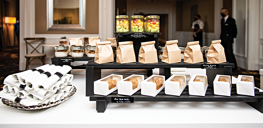 At The Ritz-Carlton, Tysons Corner, chefs introduced bento-style and/or market-style meal presentations in their meetings and events. Photo by Joy Asico