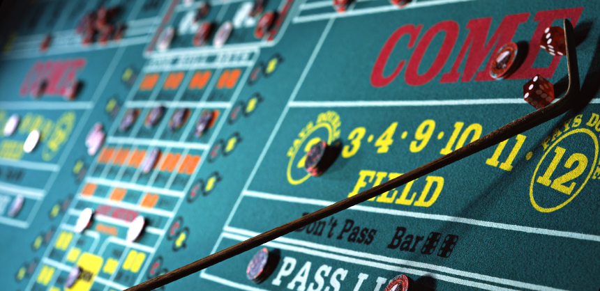 The craps table at Turning Stone Resort Casino.