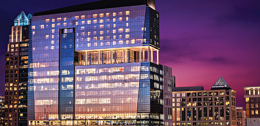 The newly opened AC Hotel Orlando Downtown offers the SkyBar Rooftop Terrace, with 360-degree city views.