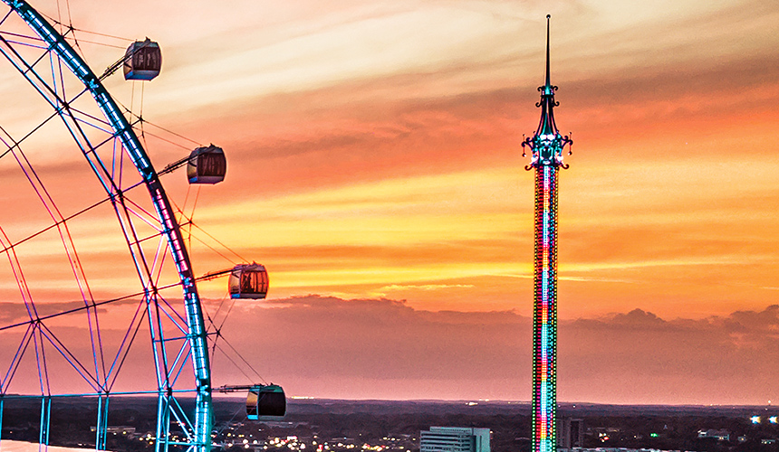 ICON Park in Orlando adds to the city's numerous thrill ride offerings.