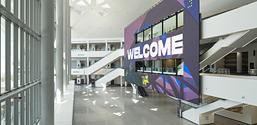 The Las Vegas Convention Center's West Hall expansion was completed earlier this year.