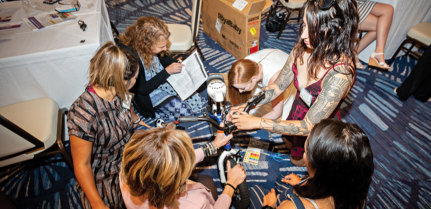 Team building creates an opportunity for co-workers to bond outside the office confines and learn to work toward a common goal. Courtesy of Kari Willis