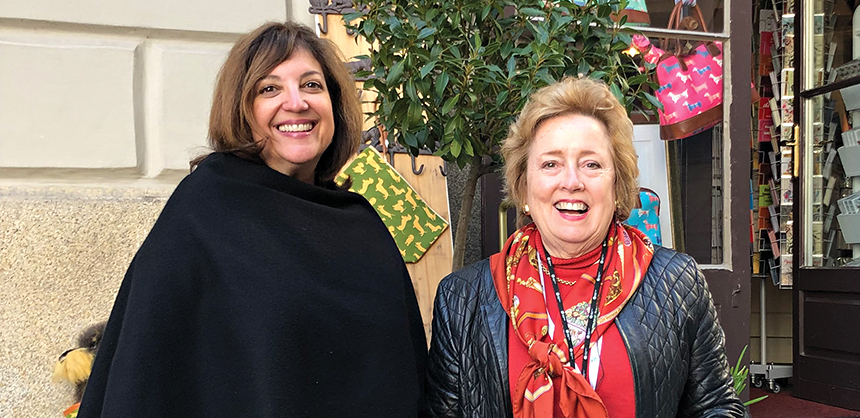Nancy Nachman, CMP, CMM, owner, chief connecting officer at The Meeting Concierge, left, says contract negotiations change in every city and every hotel depending  on the needs of a meeting. Courtesy of Nancy Nachman