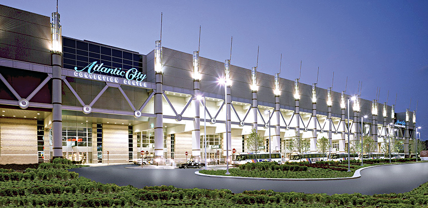 The Atlantic City Convention Center offers 486,600 sf of exhibit space.