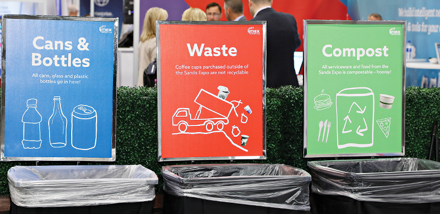 Separating waste is only one step in the process as the focus on sustainability grows. Planners are also using dozens of other measures to reduce the carbon footprint of their meetings and events. Courtesy of Mariela McIlwraith