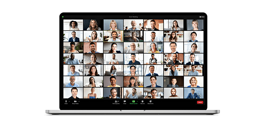 With the proper planning, team building over a virtual platform can be just as successful as team building at an in-person event. Experts say the bottom line is putting forth engaging content, no matter the format. Photo via Zoom