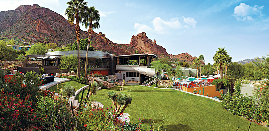 Sanctuary Camelback Mountain Resort and Spa offers 109 casitas and suites, and eight private villas spread across 53 acres.