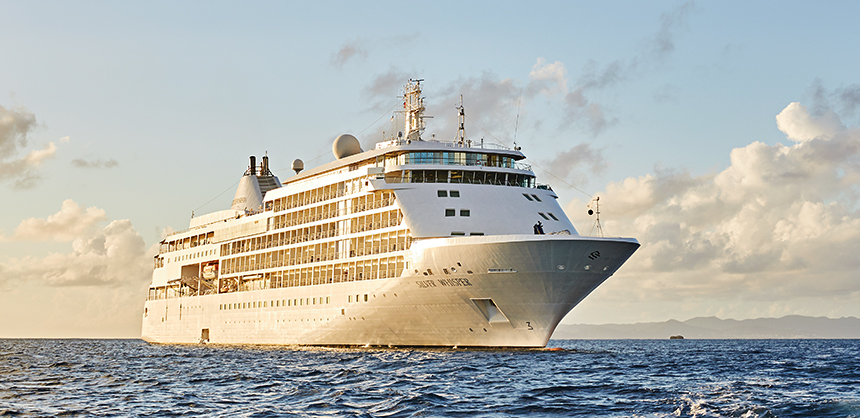 The Silver Whisper, part of the Silversea Cruises fleet. Silversea, like other cruise lines, is looking forward to increased MICE bookings.