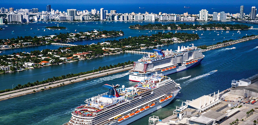 The Carnival Horizon and the Carnival Mardi Gras set sail from Miami recently as cruising resumed across the country.