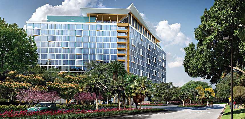Swan Reserve — a 349-room tower adjacent to the Walt Disney World Swan & Dolphin Resort — is now open for booking.