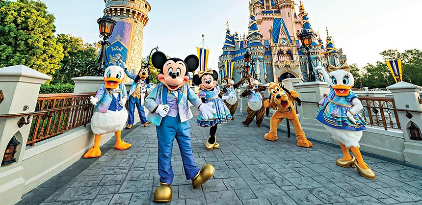 Walt Disney World Resort will kick off its 50th anniversary celebrations October 1 in Lake Buena Vista, Florida. Photo by Matt Stroshane