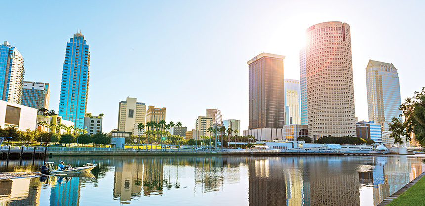 Tampa Bay's waterfront properties provide ample space for  outdoor meetings and events.