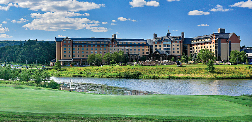In addition to its Sports Illustrated magazine-recognized, 18-hole golf course, Mount Airy Casino Resort offers gaming and much more. Photo by J.C.Getz Creative