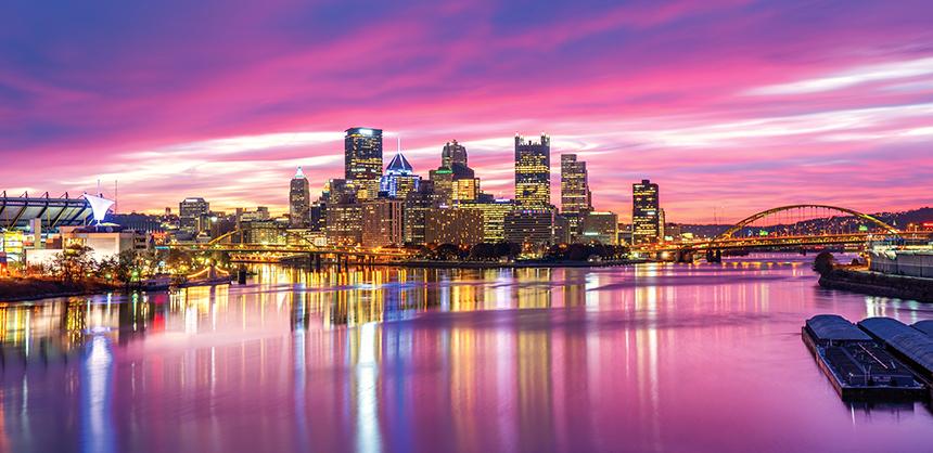 Pittsburgh boasts versatile, unique venues and plenty of outdoor activities.